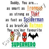 dad superhero frame