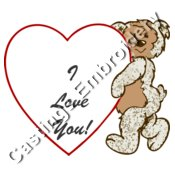 valentines bear note